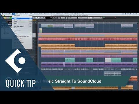 Cubase Quick Tips – Upload to SoundCloud