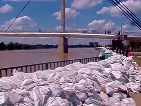 Sremska Mitrovica - odbrana od poplave 2014.