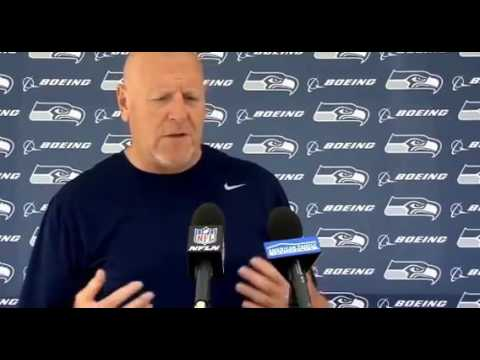 Seattle Seahawks (NFL). Tom Cable post OTA press conference from VMAC. 2017 06 09