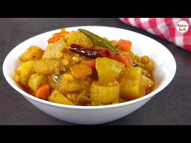 বাংলা হোটেল স্টাইলে সকালের নাস্তার সবজি ভাজি/ডাল ভাজি | Hotel Style mixed Sobji vaji,dal vaji recipe