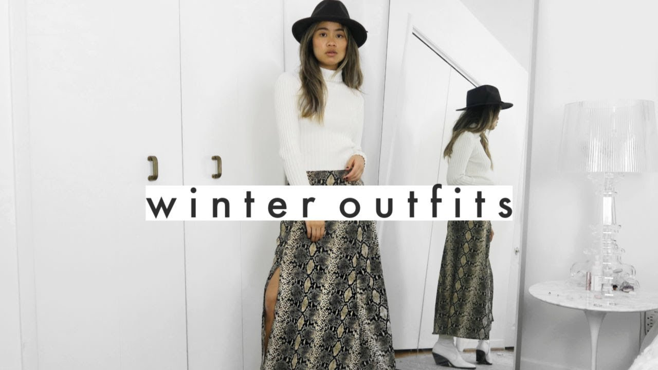 [VIDEO] - 12 WINTER OUTFIT IDEAS | capsule wardrobe (thrift, lululemon, reformation... and more) 2