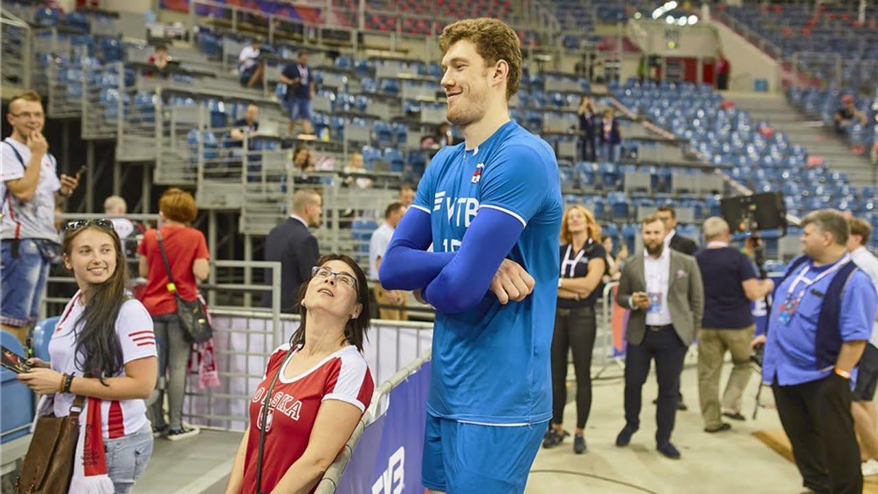 Spike: 375cm | Height: 218cm Volleyball Giant Dmitriy Muserskiy (HD)