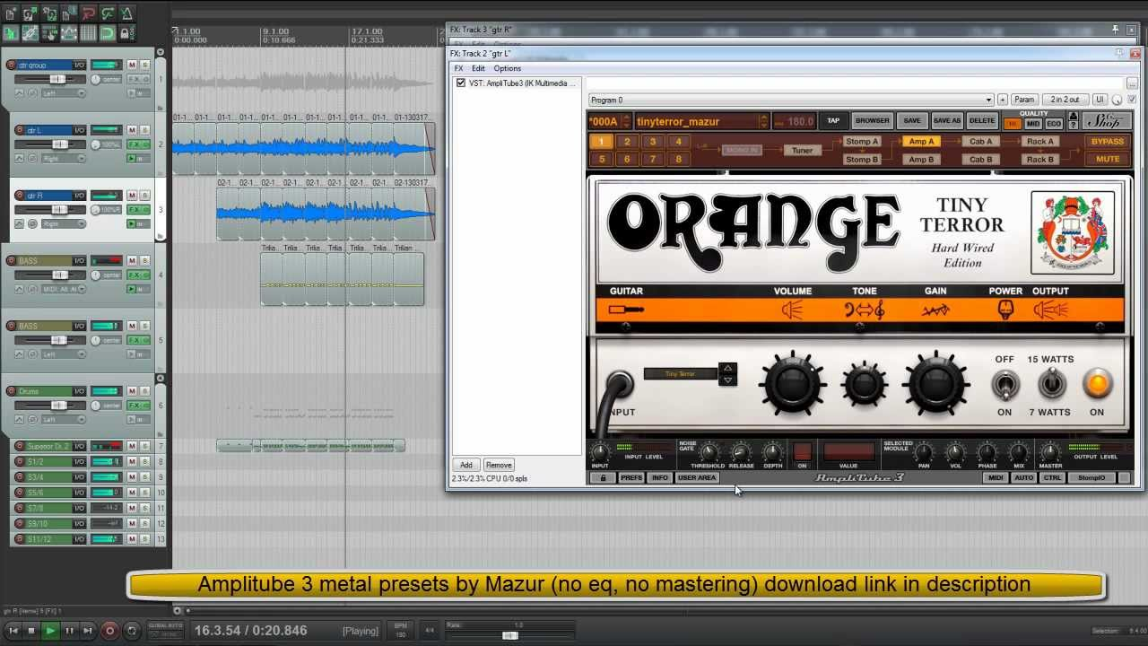 Amplitube 3 metallica presets download