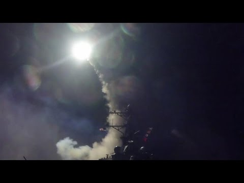 New video of U.S. launching missile attack on Syria