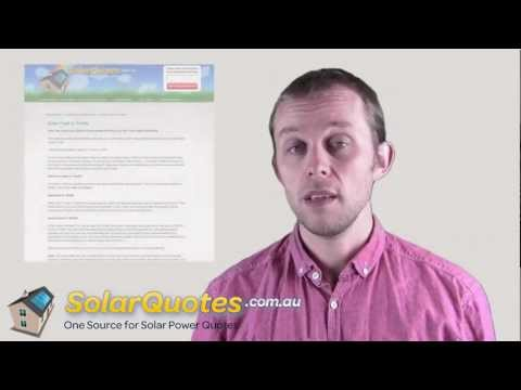 What Is A Solar Feed-in Tariff?