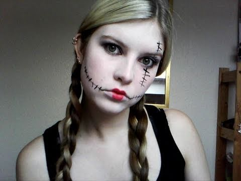 Halloween - Rag Doll Make Up Tutorial - YouTube