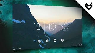 Simplify Your Desktop | Customize Windows 10 | Rain Meter 2018