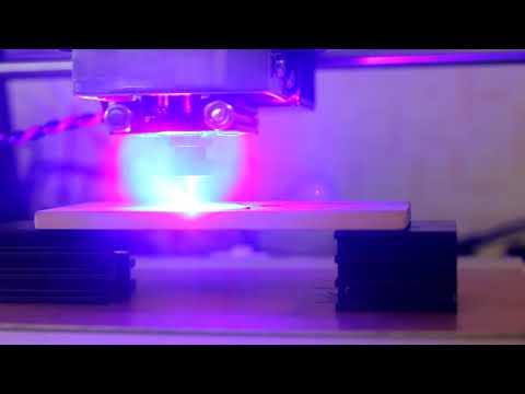 Laser cutting with 10 watt Endurance laser.