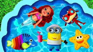 Learn Colors with Toys, Animals, The Little Mermaid, Pj Masks, Paw Patrol and Minions for Children