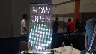 Rollrr Rollable Advertising LED display at Display Week 2019
