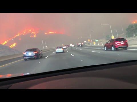 Camarillo Fire Surrounds Highway    ViralHog