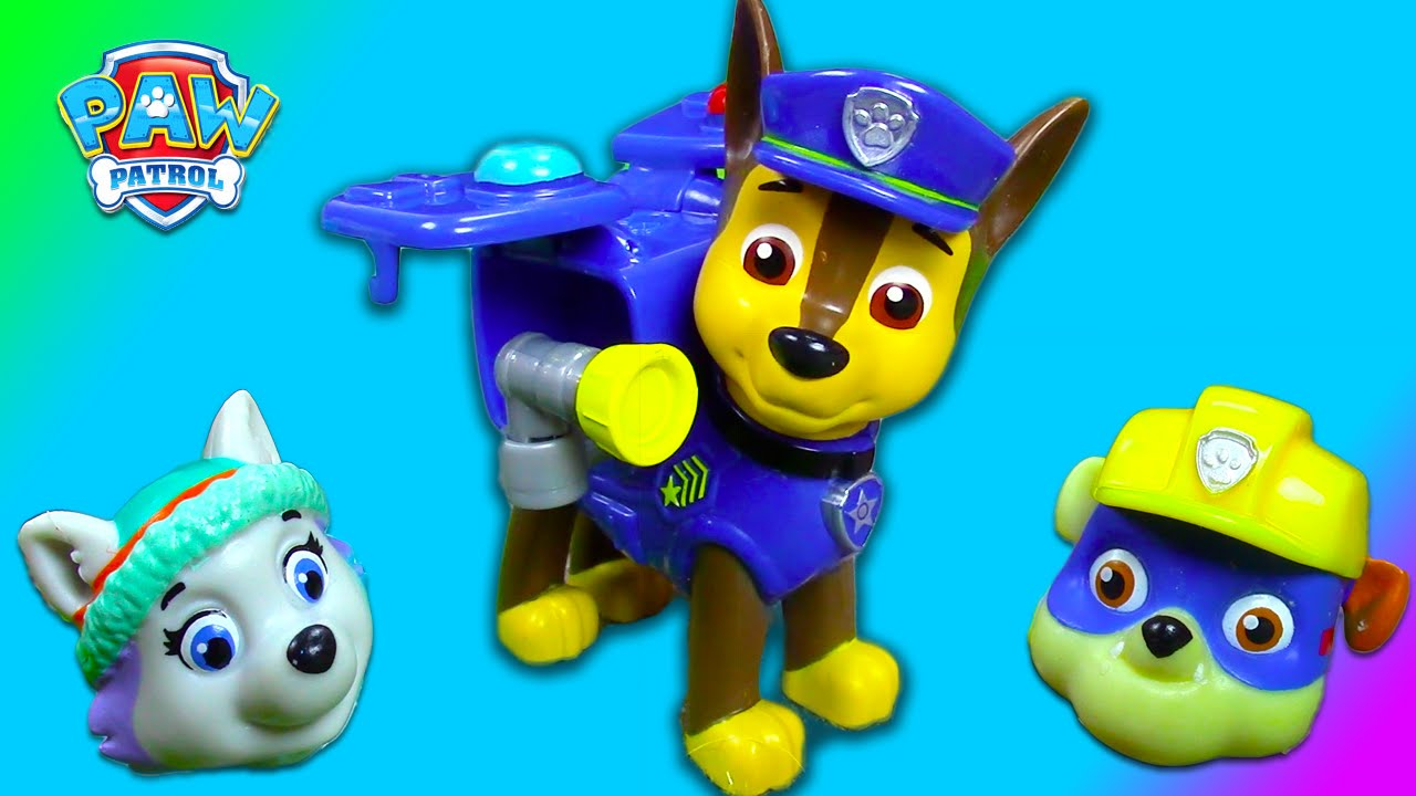 Paw patrol toy unboxing action pack pup chase everest rubble playing