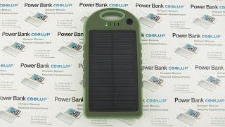 видео повер банк на солнечной батарее