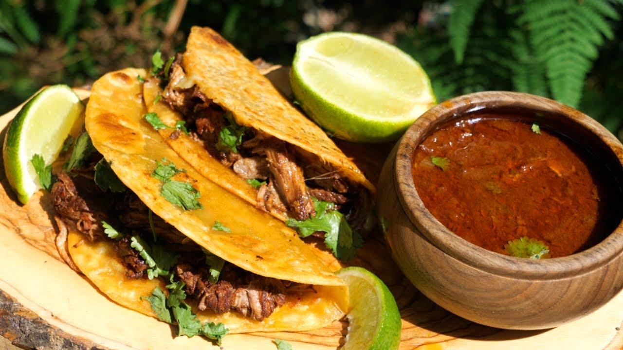 Delicious Birrias Tacos on a Camp Fire