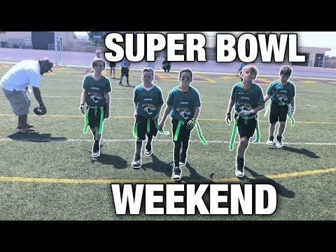 SUPER BOWL WEEKEND! | YOUTH FLAG FOOTBALL GAME NFL PLAY 60
