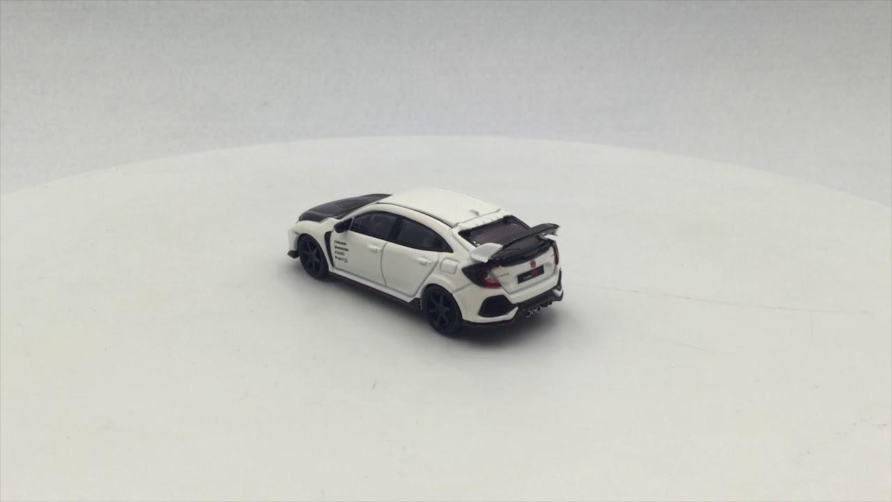 Honda Civic Type R FK8 Championship white W// Carbon Kit /& TE37 Wheel,1:64