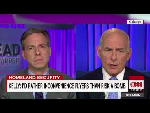 TUBE NEWS   John Kelly: Airplane terror attack keeps me up at night