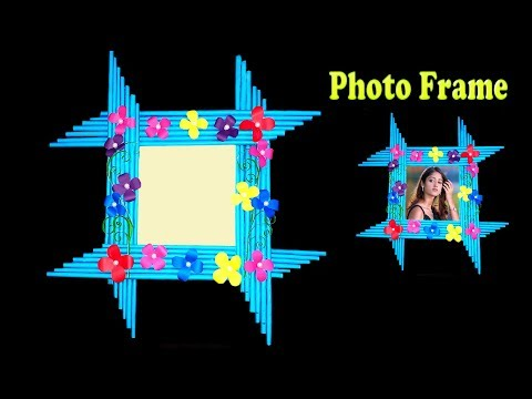 Make Awesome Photo Frame Out Of Paper Sticks / Paper Art and Craft Ideas / Bangla Crafts