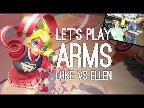 Arms Gameplay: Let's Play Arms on Nintendo Switch - ELLEN vs LUKE MULTI-MODE PUNCHOUT
