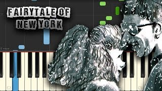 Jem Finer, Shane MacGowan - Fairytale of New York - [Piano Tutorial] (Download MIDI + Scores)