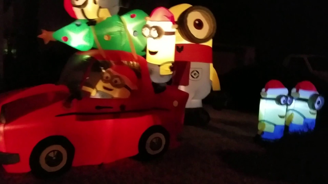 my inflatable minion christmas decorations