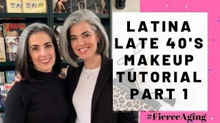 Latina Makeup Grey Hair Late 40's Part One | Nikol Johnson