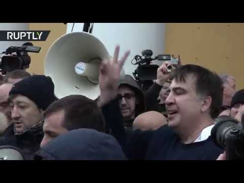 RAW: Saakashvili set free after supporters clash with security