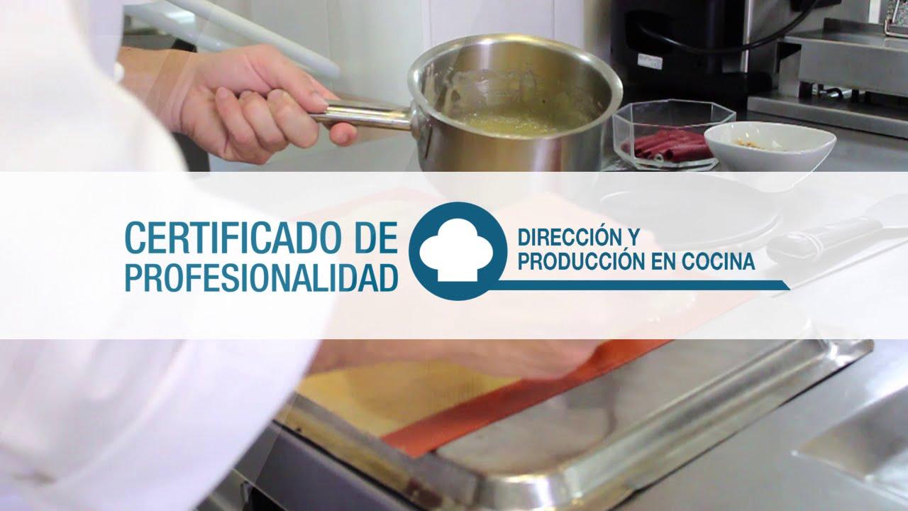 Certificado de profesionalidad direcci n y producci n en - Direccion de cocina ...