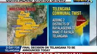 NewsX: Telangana will be 29th state, Hyderabad to be common capital for 10 years