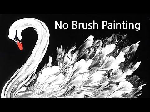 Download (440) Amazing swan | Plastic wrap smash | Fluid Acrylic Pouring for beginners | Designer Gemma77