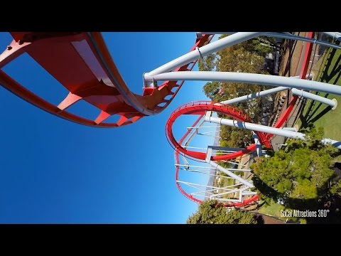(POV) Flight Deck Jet Coaster | California's Great America 2015