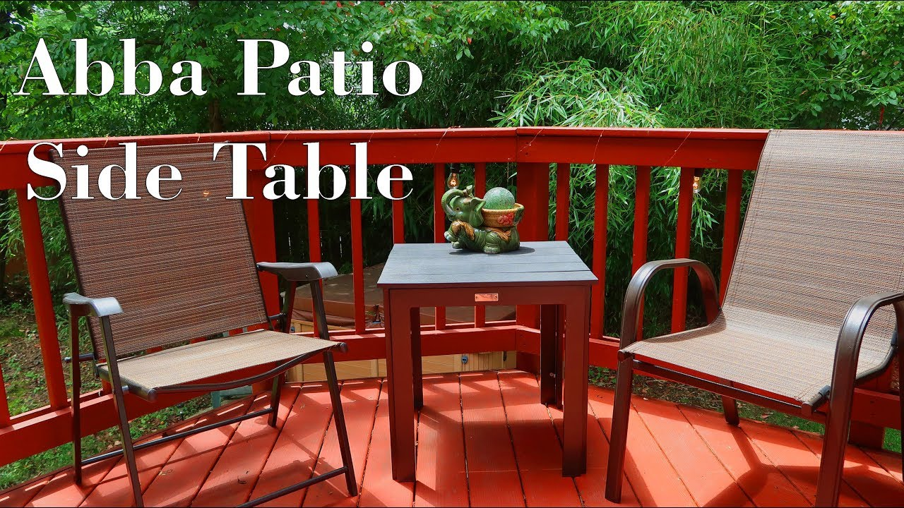 🍀abba patio side table outdoor furniture deck pool porch review 👈