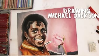 Drawing Michael Jackson - timelapse painting + voiceover