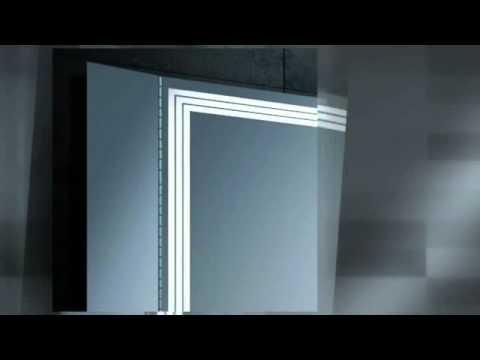 badspiegel led leiste youtube. Black Bedroom Furniture Sets. Home Design Ideas