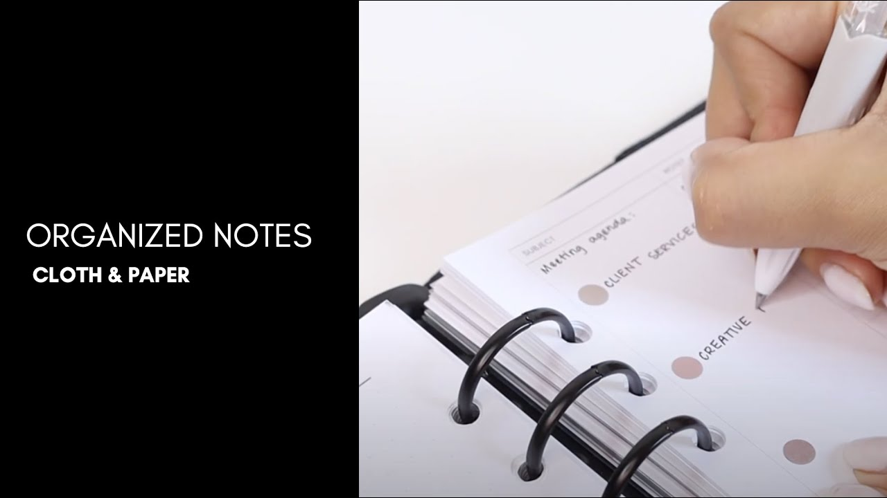 Note Taking with the NEW Cornell Style Inserts | Plan with me | Cloth & Paper