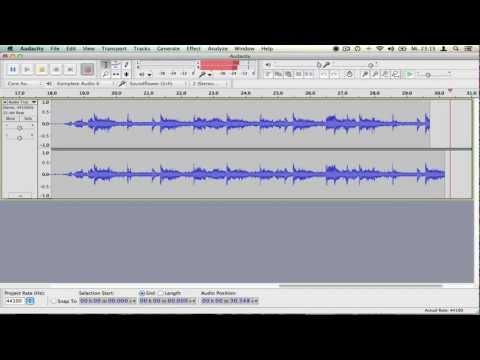Anleitung:  Sound aufnehmen am Mac - mit Soundflower & Audacity