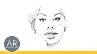 Super einfach Gesichter zeichnen lernen. Porträt-Zeichnung. Porträt Zeichenkurse mit Akademie Ruhr