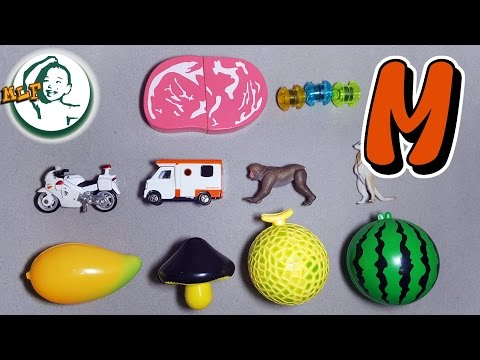 Words that start with M | Learn alphabet M with common toys!