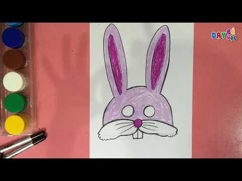 Làm đồ chơi trung thu   Cách vẽ mặt nạ con vật con thỏ cho bé 2   Dạy bé học