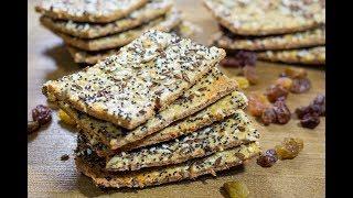 Хрустящие, ароматные ХЛЕБЦЫ с сыром и семенами