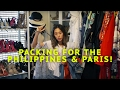 Packing for the Philippines and Paris!