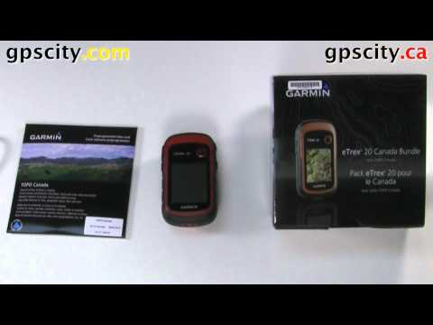 In The Box Of The Garmin Etrex 20 Canada Bundle With GPS City