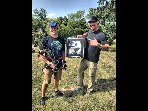 Navy Seal Andy Stumpf Trains Archery with John Dudley at 100yds.