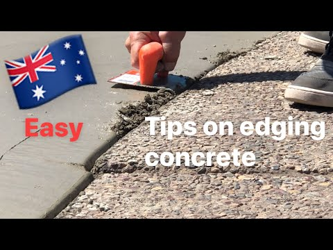 Tips on edging concrete