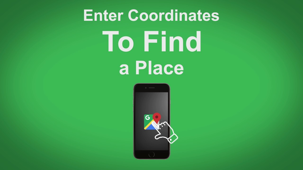 google maps how to search coordinates