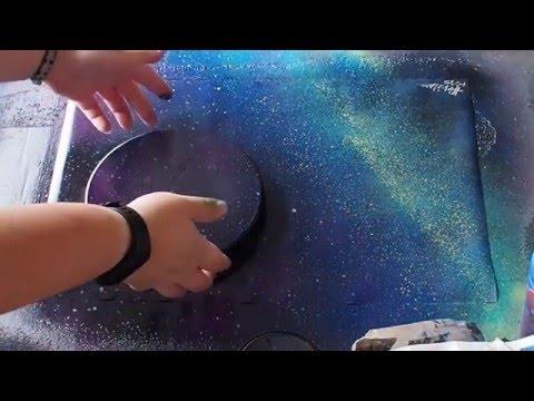 Spray Paint Art - Lone Planet