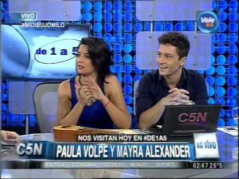 C5N - DE1A5: LA VISITA DE PAULA VOLPE Y MAYRA ALEXANDER