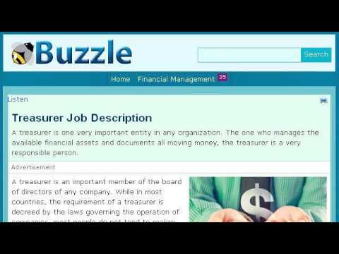 Treasurer'S Job Duties - Youtube