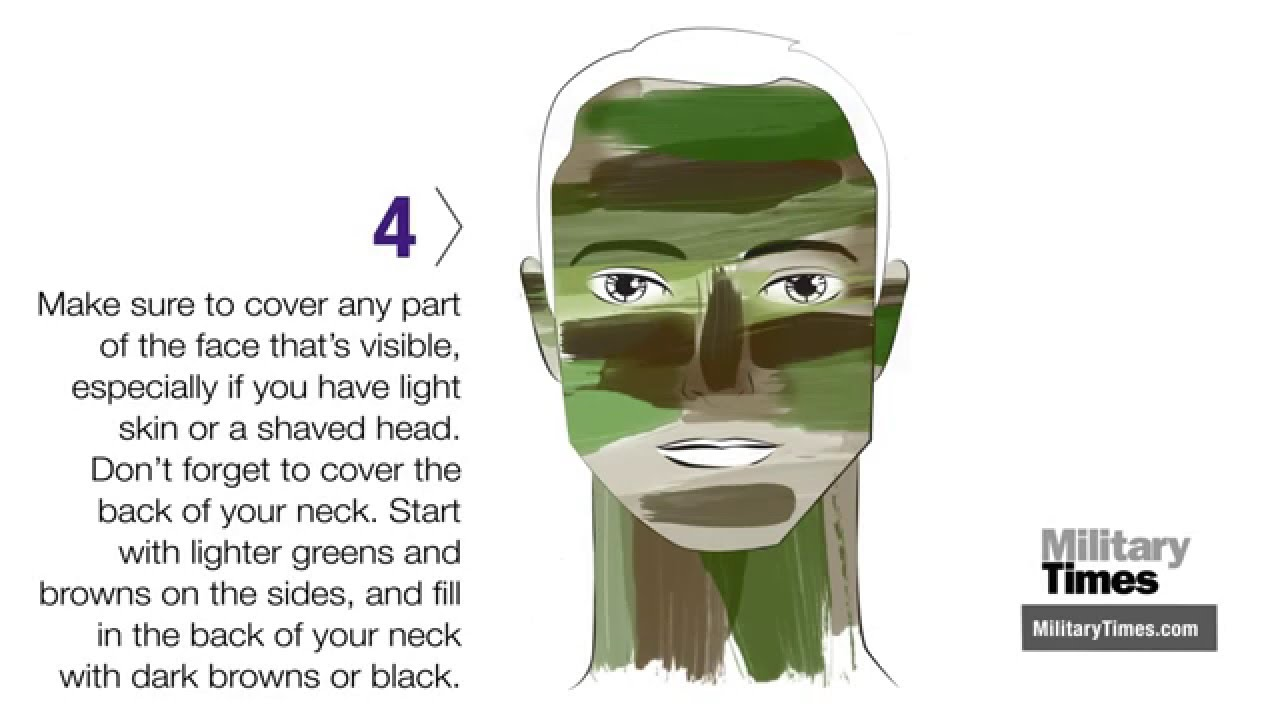 How to camo your face youtube for How to apply face paint