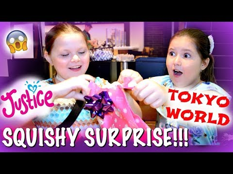 NEW SQUISHIES AND SLIME AT TOKYO WORLD AND JUSTICE! SQUISHY SURPRISE AND MYSTERIOUS BLACK BOX